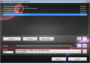 Video to Nokia Phones Converter, freeware, free Studio 5, multimedia, converter