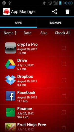 Apps Manager, free apps, Android apps, Batch Uninstall, Backup Android Apps, Android