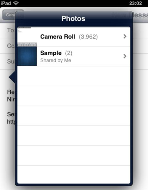 tech tips, tips, insert photo, insert video, email app, iOS, iOS 6