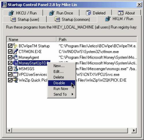 freeware, utilities, Startup Control Panel