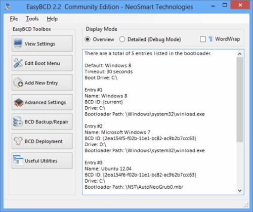 freeware, EasyBCD, dual boot, utilities