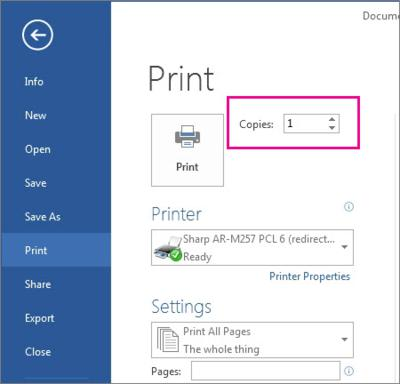 MS office, MS Word, tech tips, tips, print multiple, Word 2013, Word tips