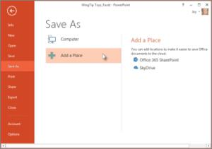 tech tips, tips, MS Powerpoint 2013, office 2013, MS office, Microsoft SkyDrive, powerpoint tip