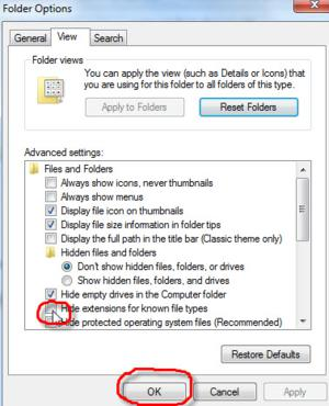 tech tips, tips, windows 7, extectsions visible