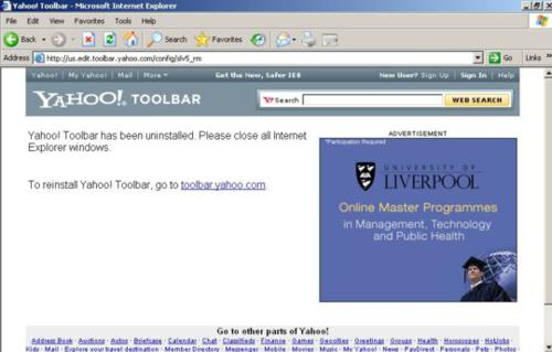 yahoo toolbar, uninstall, tech tips, tips, internet