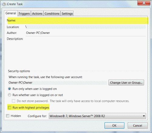 tech tips, tips, task scheduler, windows 7, UAC