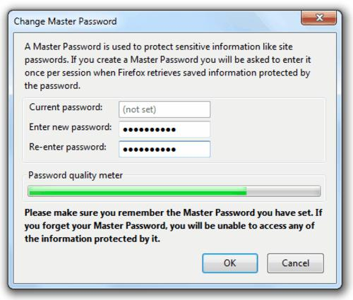 tech tips, tips, firefox tips, firefox, browser, internet, master password