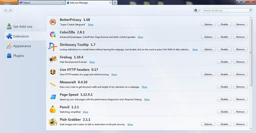 tech tips, tips, firefox, firefox tips, enable add-ons, disable add-ons, browser, internet