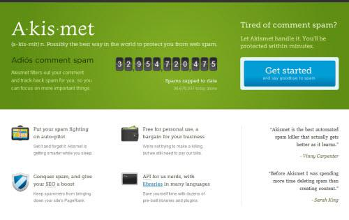 WordPress comment plugins - akismet