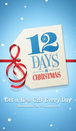 christmas gift, free apps, free songs, free videos, itunes