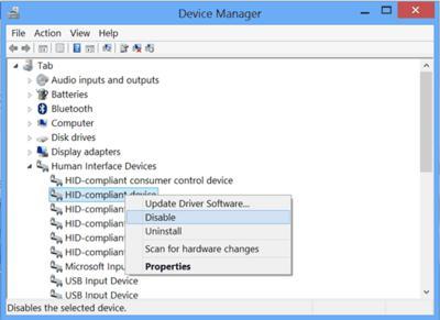 tech tips, technology tips, tips, windows, windows 8, windows 8 tips, windows 8 tricks, windows tips, windows tricks, disable touch input