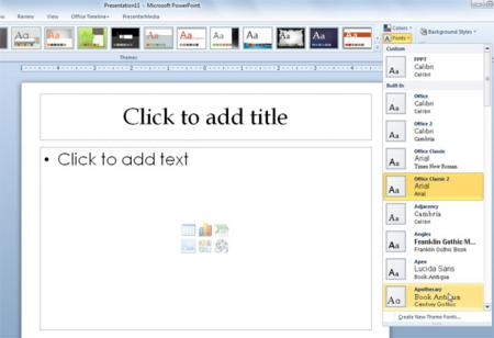 MS Powerpoint, office tips, powerpoint, Powerpoint 2010, powerpoint tips, powerpoint tricks, tech tips, tips, theme font