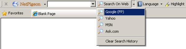 Toolbar for Internet Explorer