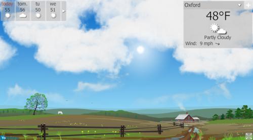 yowindow, weather software, destop tool