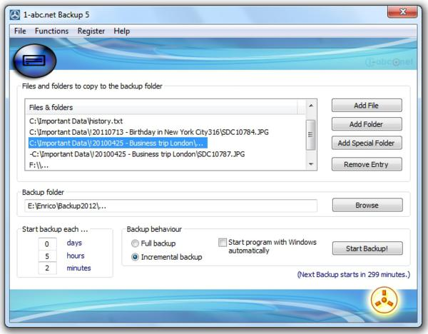 1-abc.net Backup 5.00, giveaway, giveaways, backup tool
