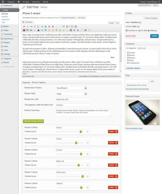 plugin for wordpress, WordPress Review Plugin