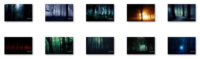 free themes, windows 8 theme, windows rt, windows rt theme, windows skins, windows themes, Dark Forest Windows 8 Theme