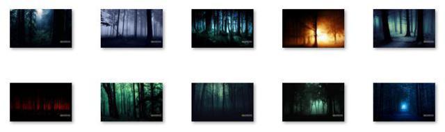 free themes, windows 8 theme, windows rt, windows rt theme, windows skins, windows themes, Dark Forest Windows 8 Theme