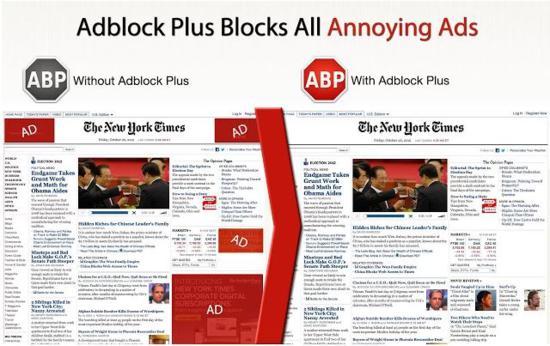 Adblock Plus blocks all annoying ads