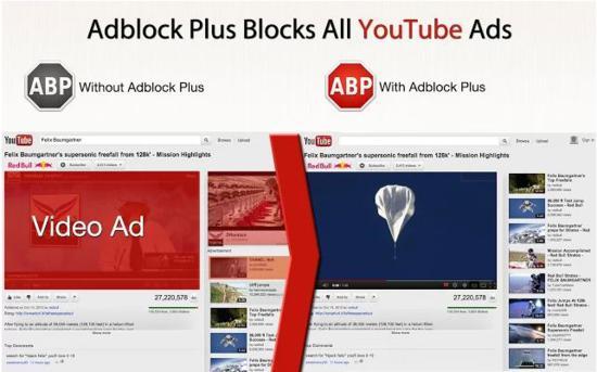 Adblock Plus blocks all youtube ads