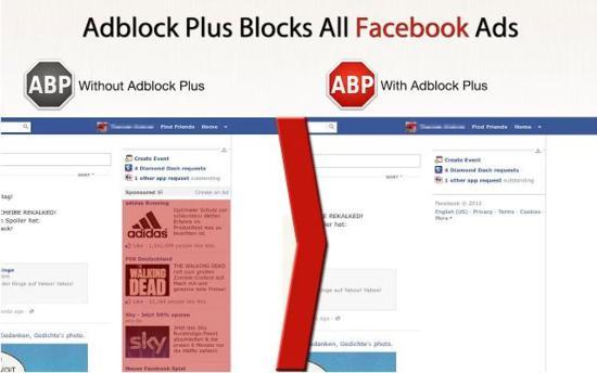 Adblock Plus blocks facebook ads