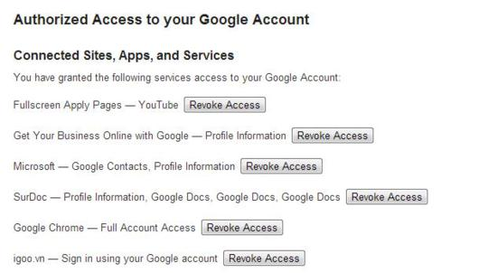 Authorized Access to your Google Account