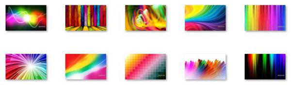 Colorful Abstract Art theme for Windows 8