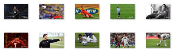 The Windows 8 theme about Cristiano Ronaldo