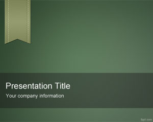 Green e-Learning PowerPoint Template