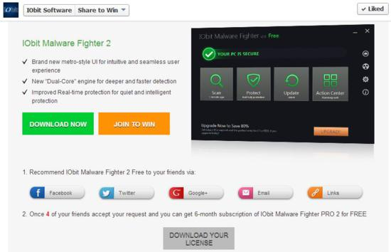 Software Giveaway event: IObit Malware Fighter 2 may 2013-3