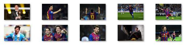 The Windows 8 theme about Lionel Messi