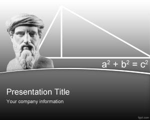 Pythagoras powerpoint template