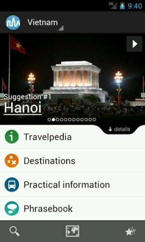 Vietnam travel guide app for Android