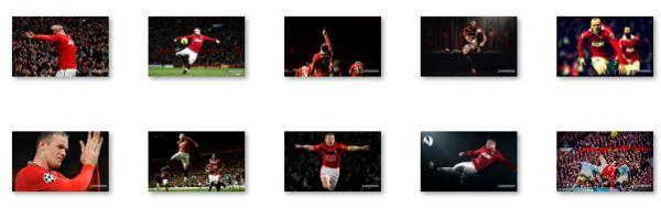 The Windows 8 theme about Wayne Rooney
