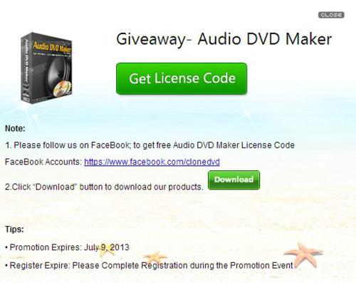 Audio DVD Maker giveaway 2