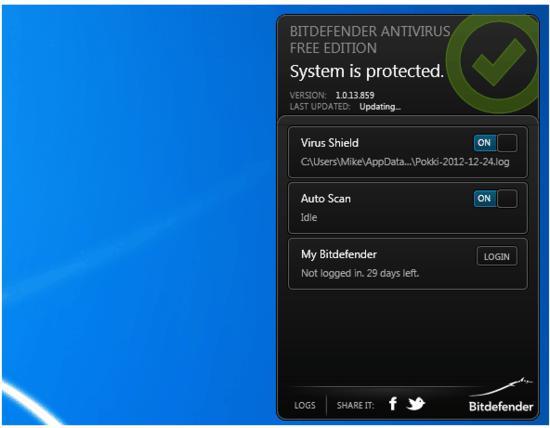 Bitdefender Antivirus Free Edition 1.0.15.947