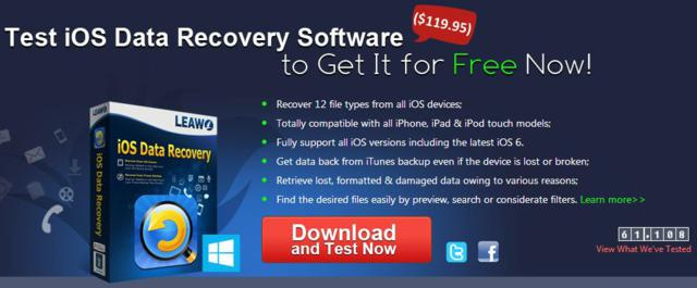 Leawo iOS Data Recovery - Giveaway event