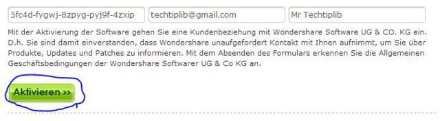 Wondershare LiveBoot 2012 register form