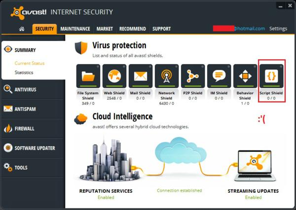 Avast internet security 8 screenshot