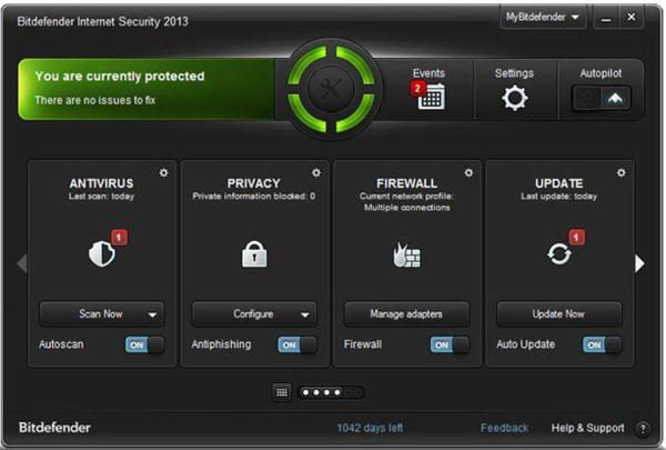Bitdefender Internet Security 2013 screenshot