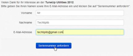 TuneUp Utilities 2012 -fill out the form