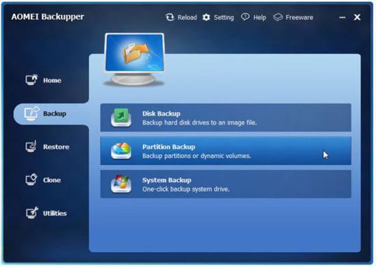 AOMEI Backupper screenshot