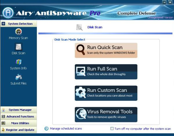 Airy AntiSpyware Pro v 2013 screenshot