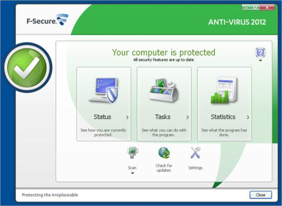 F-Secure Anti-Virus-main windows-thumb