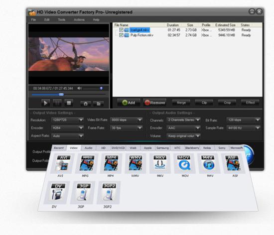 HD Video Converter Factory Pro screenshot