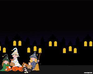 Halloween Night Powerpoint Template