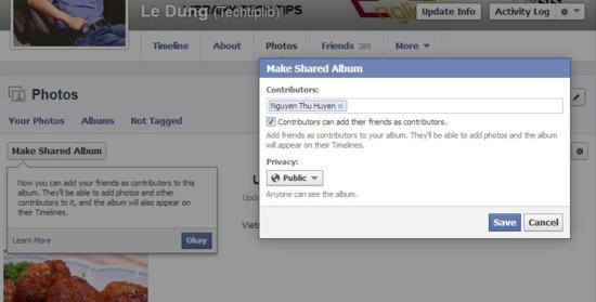 add contributors into shared album