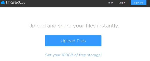 free 100Gb free storage from Shared