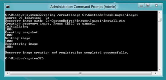 recovery image in Windows 8